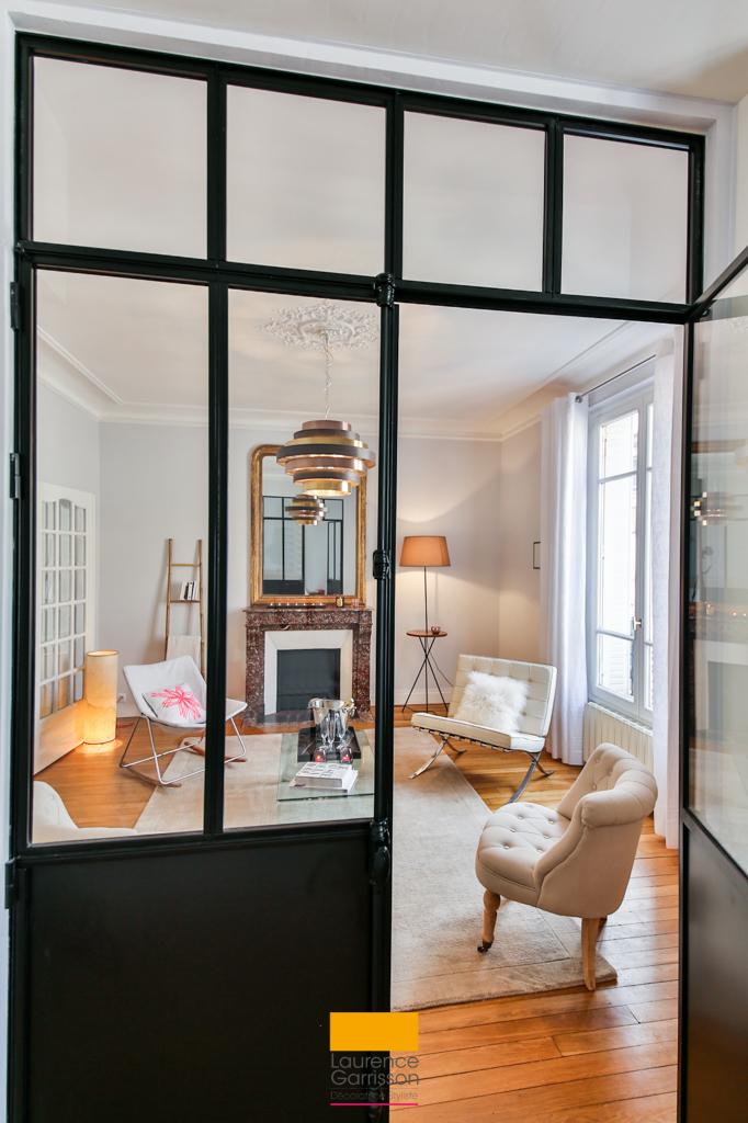 Salon boudoir dans l 39 ouest parisien par laurence garrisson - Salon parisien ...