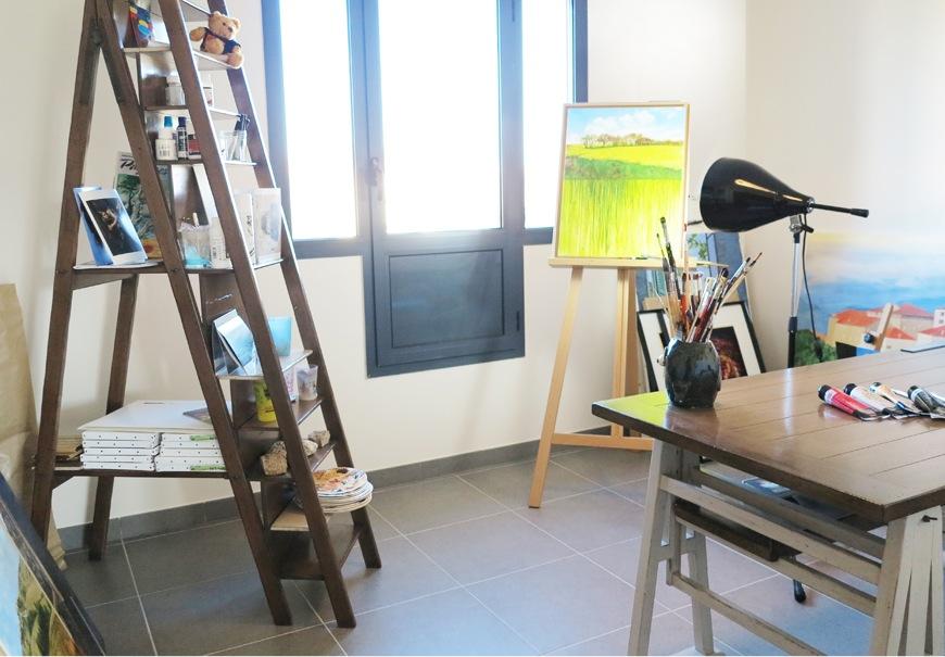 Maison d 39 artiste valence par m lanie rousset m artdeco for Materiel de peinture maison